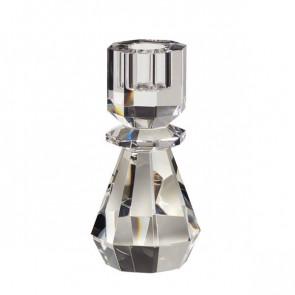 Hubsch Lysestage i klart glas H14 cm