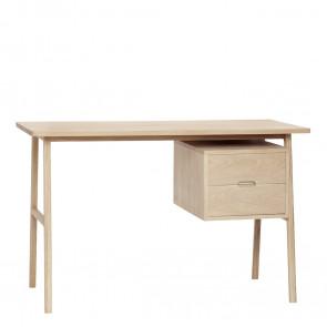 Hubsch Skrivebord Egetræ Natur med 2 skuffer