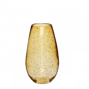 Hubsch Vase i Ravgult Glas