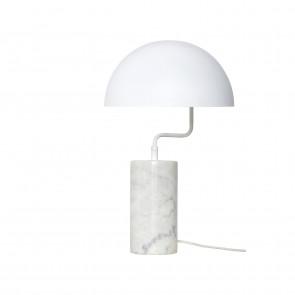 Hubsch Bordlampe i Hvid Metal og Marmor ø38