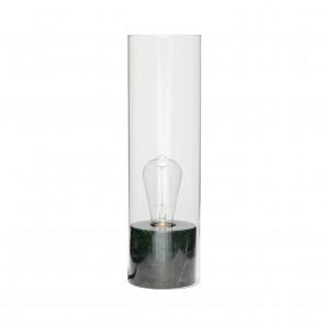 Hubsch Lille Bordlampe i Grønt Marmor ø12