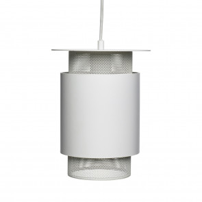 Hubsch Lille Loftslampe i Hvid Metal med Gitter