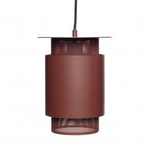 Hubsch Lille Loftslampe i Rødt Metal med Gitter ø20