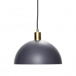 Hubsch Loftslampe i Mat Mørkegrå og Messing
