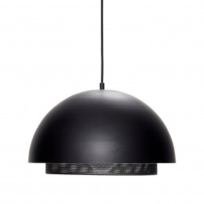 Hubsch Loftslampe i Sort Metal med Gitter ø40