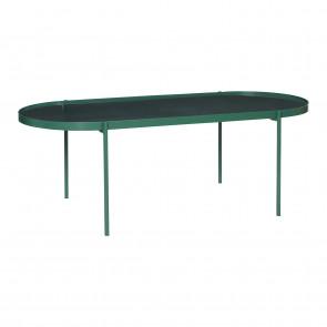 Hubsch Sofabord i Grønt Metal Glas