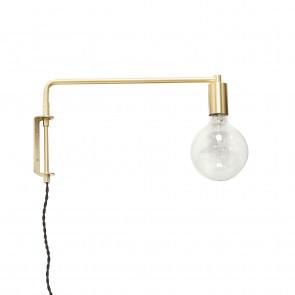 Hubsch Væglampe i Flot Messing med LED Pære