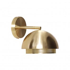 Hubsch Væglampe i Messing med lille Gitter ø18