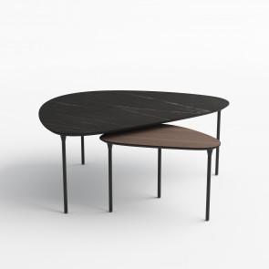 Katrine Trekantet Sofabord med stålben