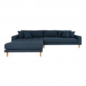 Livorno Chaiselong Sofa Mørkeblå. Venstre Vendt