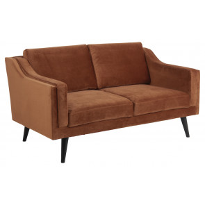 Madrid 2 pers. Sofa Kobber Velour