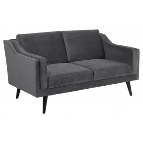 Madrid 2 pers. Sofa Mørkegrå Velour