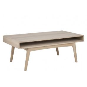 Malou Sofabord med hylde. Hvidpigmenteret Eg.