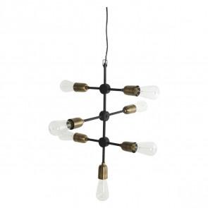 Molecular Loftslampe 7 Fat. Sort/Messing - House Doctor