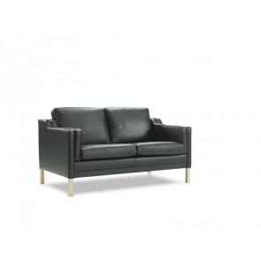 Mou 2 pers Sofa Sort Læder