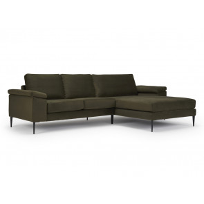 Nabbe Sofa med chaiselong Army