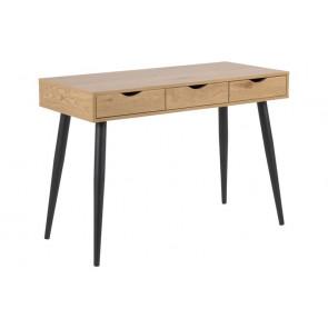 Nellie Skrivebord i Naturlig Egetræ med 3 Skuffer