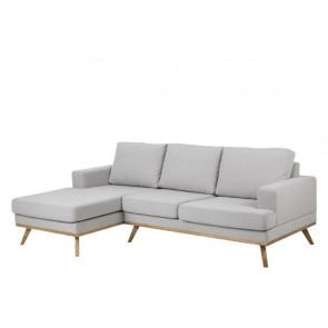 Newark sofa i Stuart Stof Lysegrå. Venstre vendt