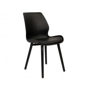 Nima Spisebordsstol Sort/Sorte ben i træ