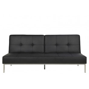 Pisa Sovesofa Sort Læderlook Front