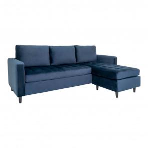 Ravello Chaiselong Sofa Mørkeblå Velour