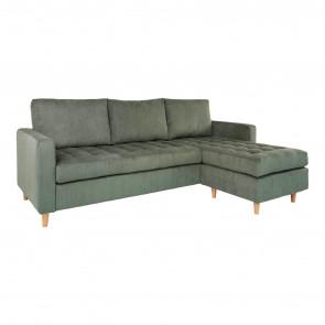 Ravello Chaiselong Sofa-Grøn Fløjl