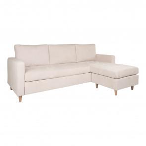 Ravello Chaiselong Sofa-Sandfarvet Fløjl