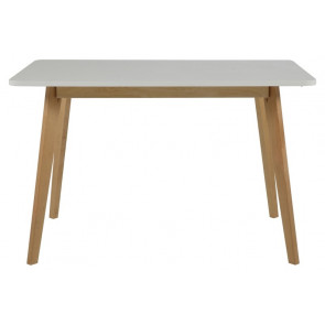 Raben Spisebord Hvid/Birk 120