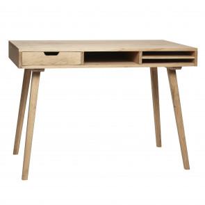 Hübsch Skrivebord Egetræ Natur m Rum og skuffe 110