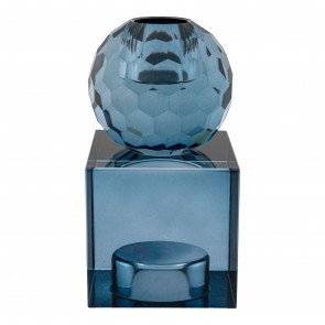 Taomina Lysestage Vendbar - Blåt Glas