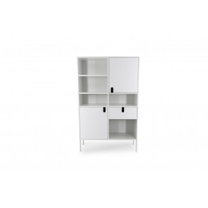 UNO Stor Reol 2D1S Hvid. Front