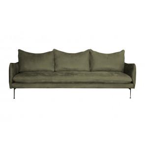 Vision Sofa 3,5 pers. Vist i Nubuk læder Kenya farven Olive. Kat. 70